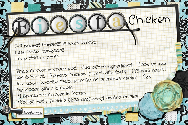 Fiesta Chicken-January 2013 Recipe Swap