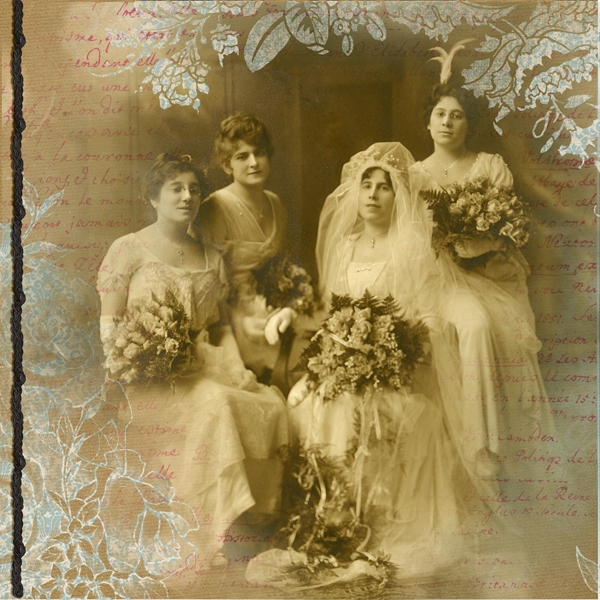 1914 wedding portraits left  side