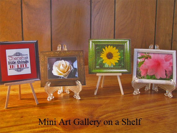 Mini Art Gallery on a Shelf