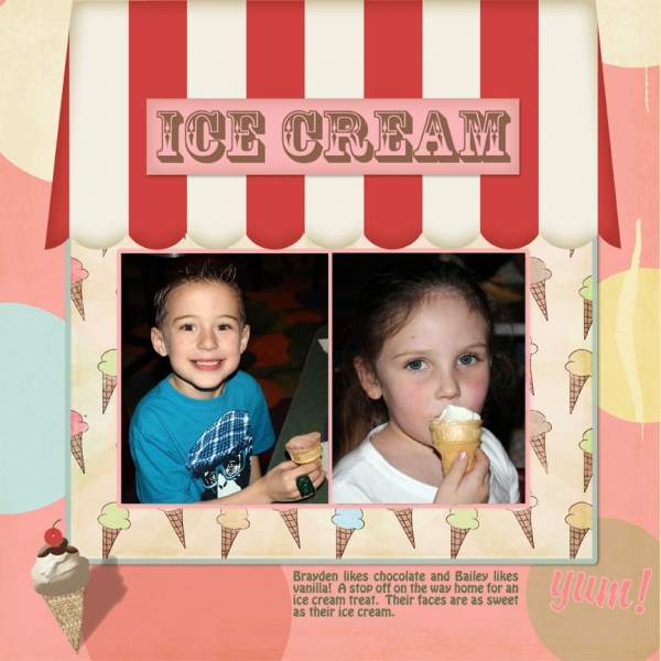 Saturday 4/13/13 Color Challenge, Ice Cream Kids