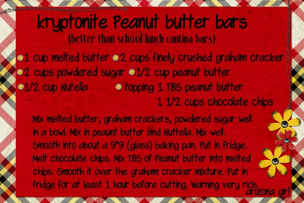recipe: Kryptonite Peanut Butter Bars