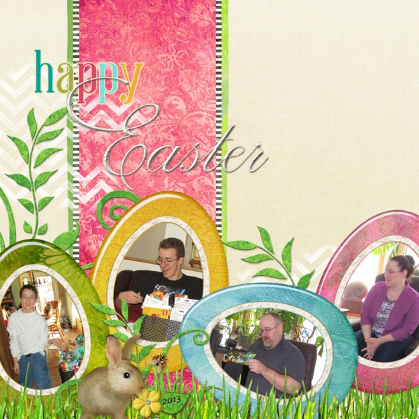3/14 Challenge:  Easy Peasy Easter Layout