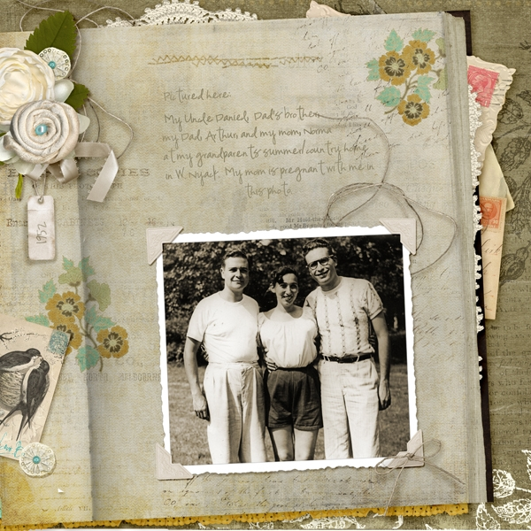 1952 my uncle, my mom, my dad