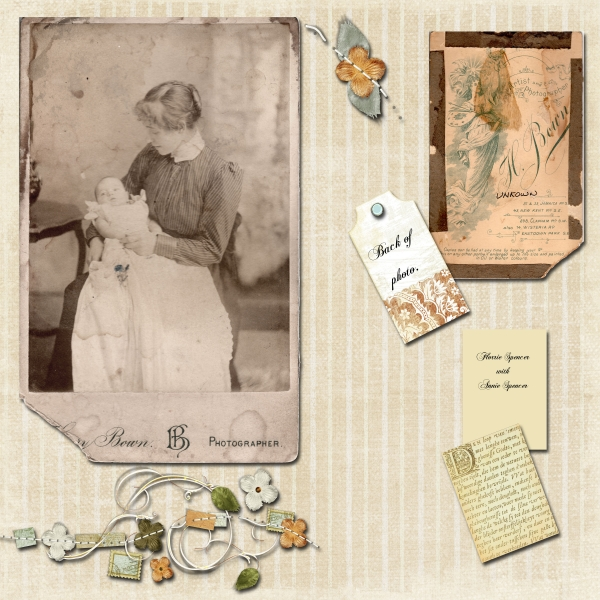 My Great Granny and Granny as a baby page 1 of 2