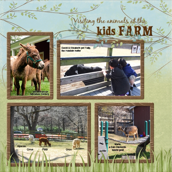 Visiting kids' Farm