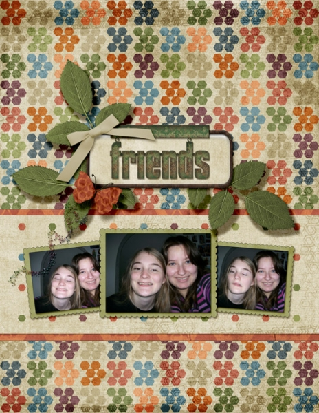 "FRIDAY CHALLENGE 5/17 KIM MEEDER SCRAPLIFT - ""FRIENDS"""