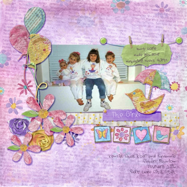 Friday Scraplift Challenge 5/3 - Joyce Schardt - The Girls