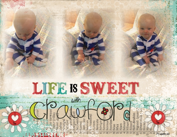 Project Life 2013 - Life is Sweet with Crawford