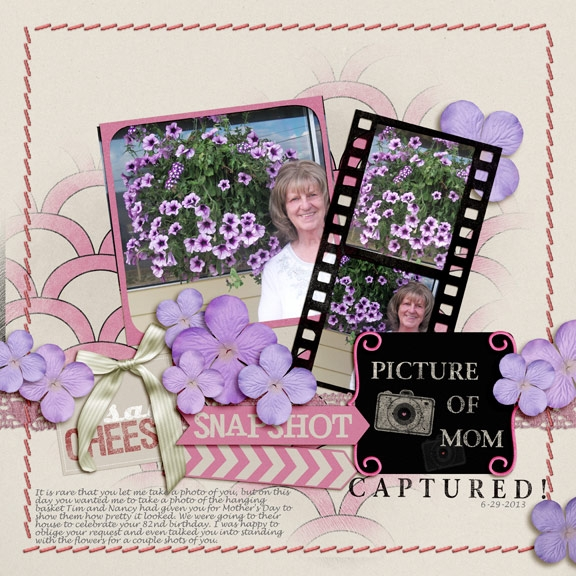 Mom and her flowers(HNC embellishments(