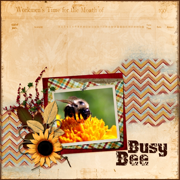 8/03 Color Challenge - Busy Bee