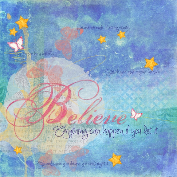 "Believe - Thurs. ""art journal"" challenge"