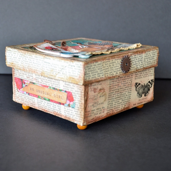Printable Altered Boxes - An Unusual Girl Front