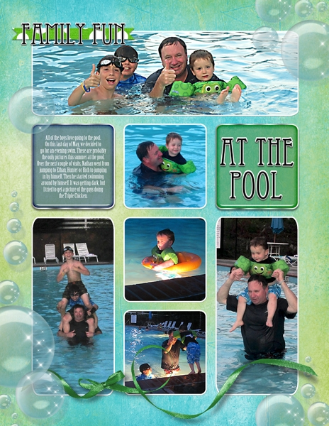 Project Life 2013 May - Family Fun at the Pool