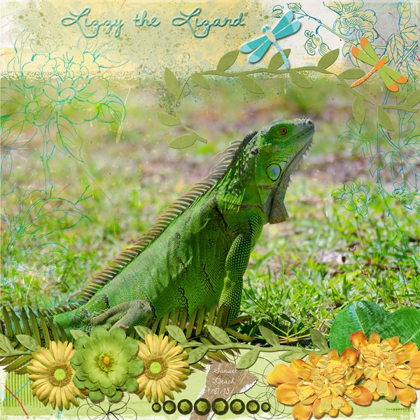 Oct 17 - Natural Wonders - Lizzy the Lizard