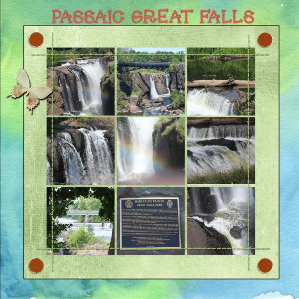 Passaic Great Falls -- 8-23-16 Newsletter Challenge