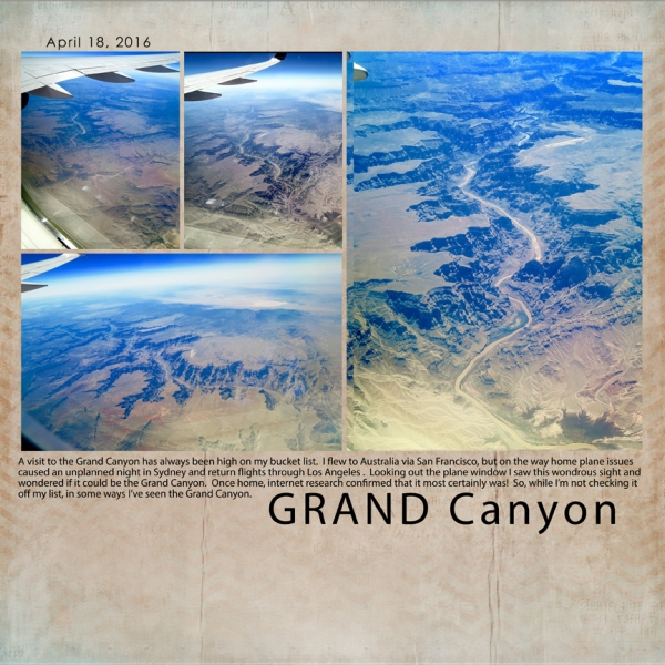 Aug 23 NL Challenge Clean and Simple - Grand Canyon