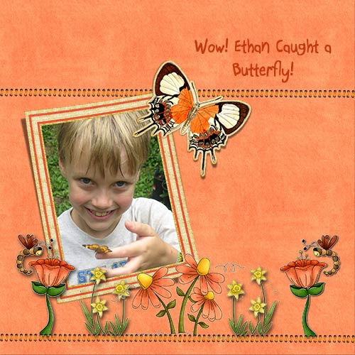 Ethan with butterfly