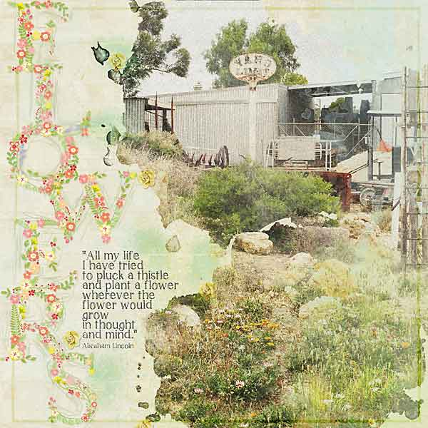 layout for Syndee's Wildflowers Alpha Mini