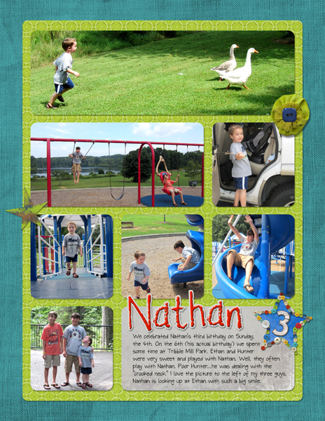 Project Life 2013 August - Nathan's Birthday