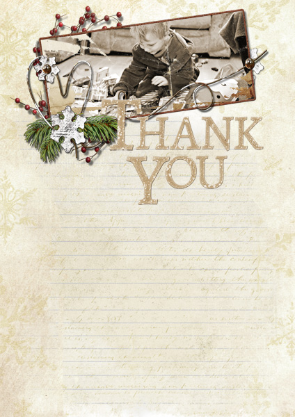 Xmas Thank You card