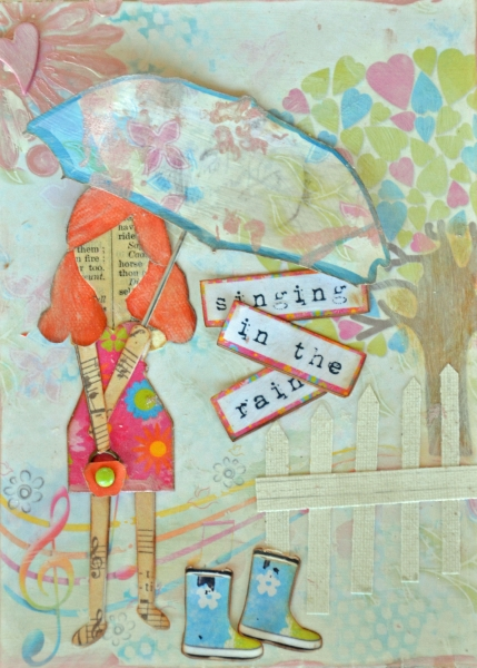 Singing In The Rain Art Journal Page
