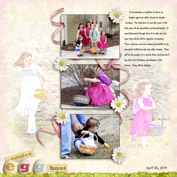 Easter Tradition digital layout