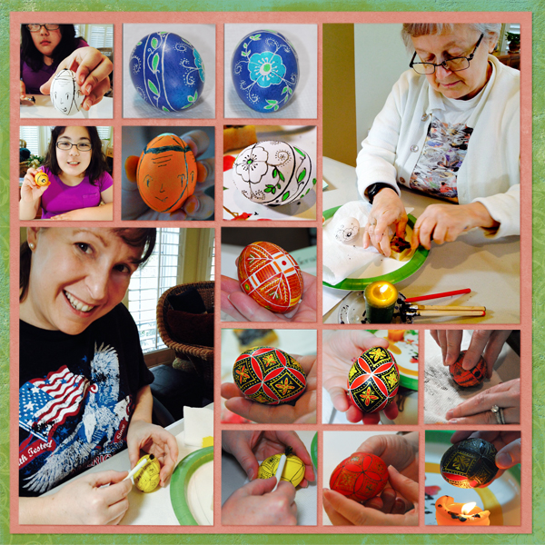 Writing Pysanky, April 2014 - right