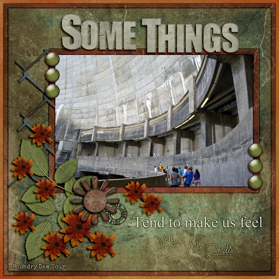 SCRAP 10 CHALLENGE:  TIN ROOF RUSTED - SOME THINGS….