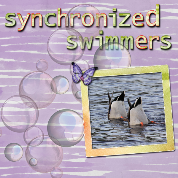 Synchronized Swimmers -- Weekend Challenge 8-6-16