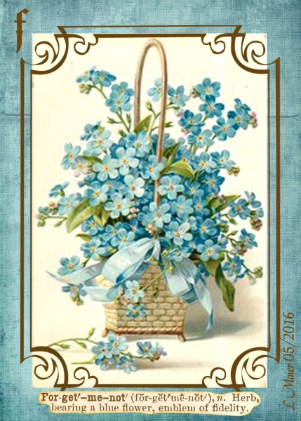 ATC_May Flowers - Forget-me-nots