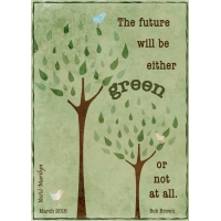 "March ATC: Green - ""Tree"""