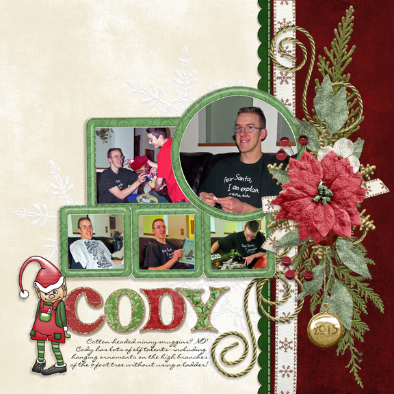 Red & Green Color Challenge: Cody Christmas