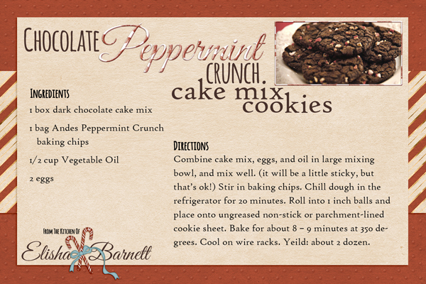 Chocoloate Peppermint Crunch Cake Mix Cookies