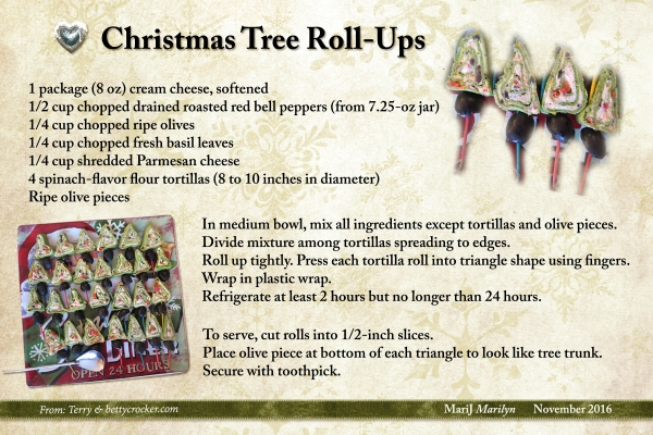 SG Nov 16 Recipe Swap Christmas Tree Rollups