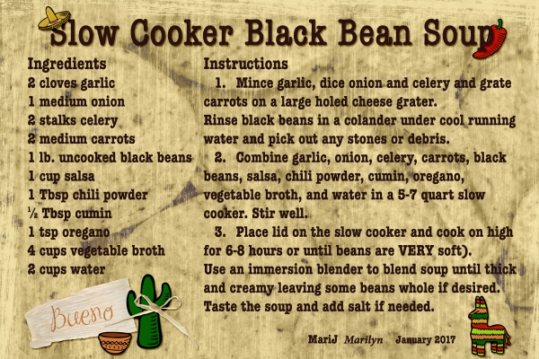 SG Recipe Swap Jan 2017 Slow Cooker Black Bean Soup