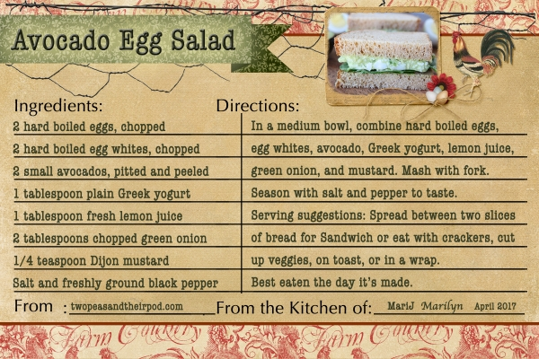 April 2017 SG Recipe Swap: Eggs - Avocado Egg Salad