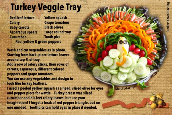 Recipe Swap Nov 2016: Holidays- Turkey Veggie Tray