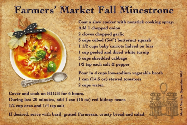 Sept 2016 Recipe Swap - Autumn: Fall Minestrone