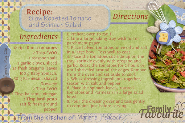 Tomato Spinach Salad recipe