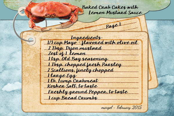BAKED CRAB CAKES WITH LEMON MUSTARD SAUCE   PAGE 1