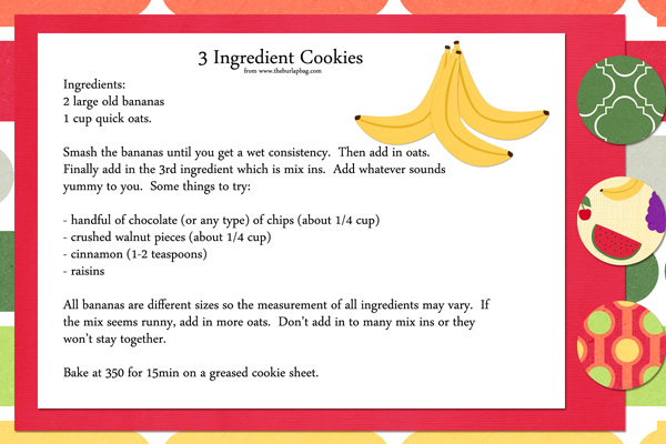 3 Ingredient Cookie