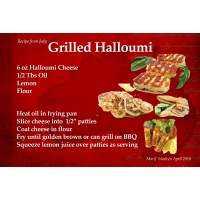 "SG Recipe Swap April 2016 ""Grilled Halloumi"""