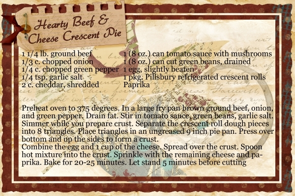Lei's Hearty Beef & Cheese Crescent Pie