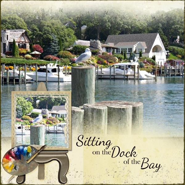 Painting on the dock