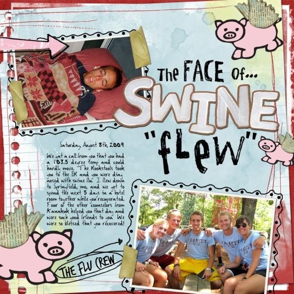 "5 Designer Layout-""Swine Flew"""
