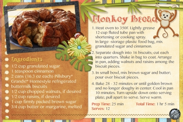October Recipe Swap - Monkey Bread