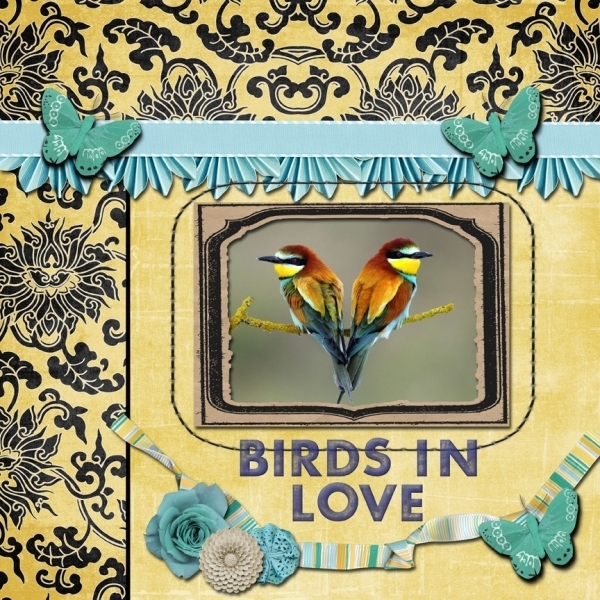 Tuesday 1-29-13 Freebie Challenge -- Birds In Love