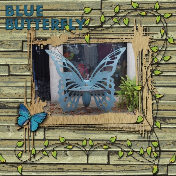 Tuesday 9-18-12 Freebie Challenge -- Blue Butterfly