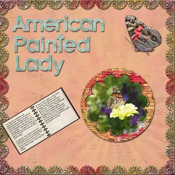 Tuesday 8-14-12 Freebie Challenge -- Painted Lady