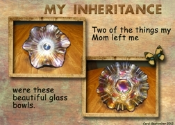 September 2012 ATC Challenge -- My Inheritance Glass Bowls